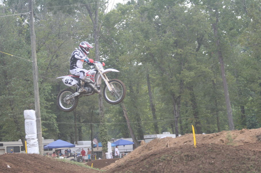 Loretta Lynns 2010 Vet B Moto. Double jumping.